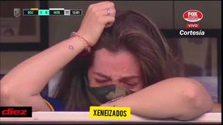 El llanto de Dalma Maradona cuando los jugadores de Boca le dedicaron el gol ante Newell's