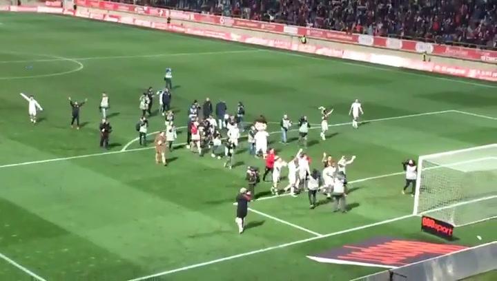 Así celebró el Reino de León la victoria de la Cultural Leonesa ante el Atlético