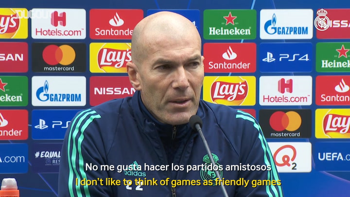 Zidane: 'This is the Champions League, we want to win'