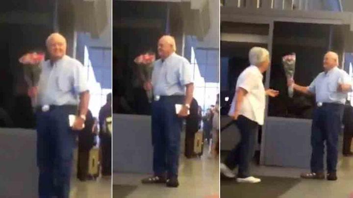 Verden går av skaftet for denne søte eldre mannen