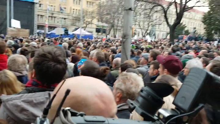 3. Pozsonyi kormányellenes tüntetés Ján Kuciak halála után