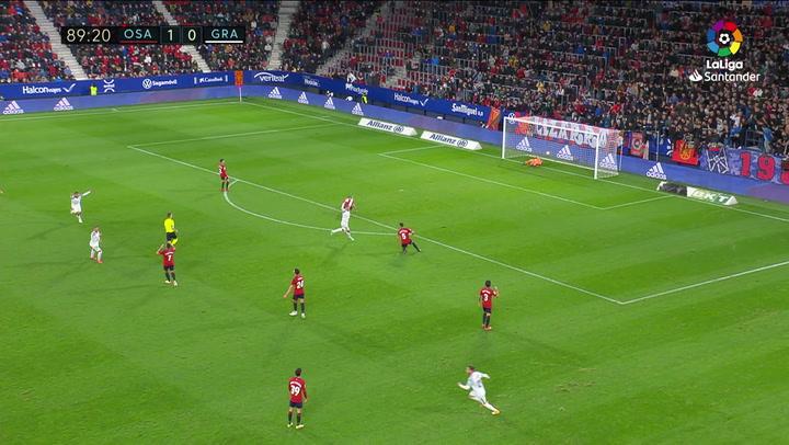 Gol Ángel Montoro C.A. Osasuna 1-1 Granada CF J10