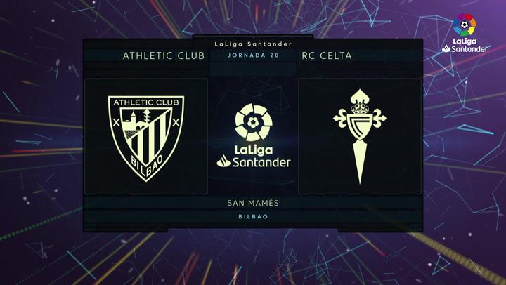 LaLiga (J20): Resumen y goles del Athletic 1-1 Celta