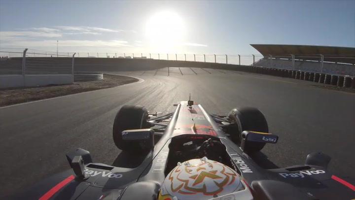 Max Verstappen prueba el nuevo trazado del circuito de Zandvoort