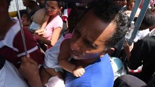 México permite ingreso de migrantes hondureños