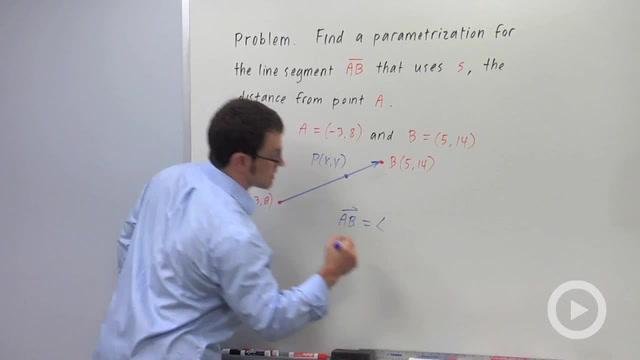 Parametrizing a Line Segment - Problem 3