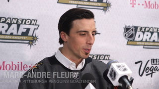 Marc-Andre Fleury talks fans, being picked up by the Vegas Golden Knights