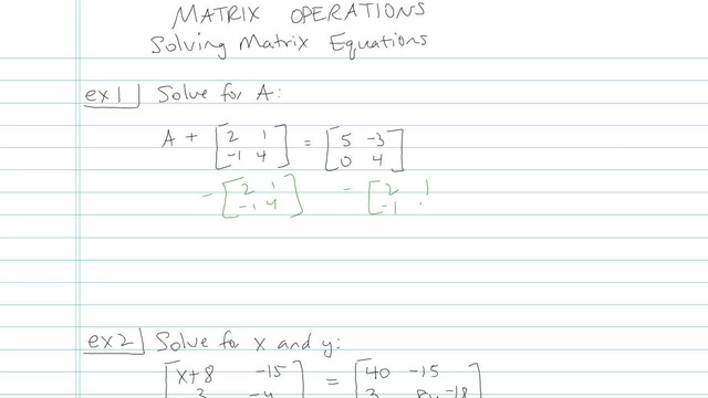 Matrix Operations - Problem 3