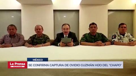 Gobierno de México confirma la captura de Ovidio Guzmán, hijo del Chapo Guzmán