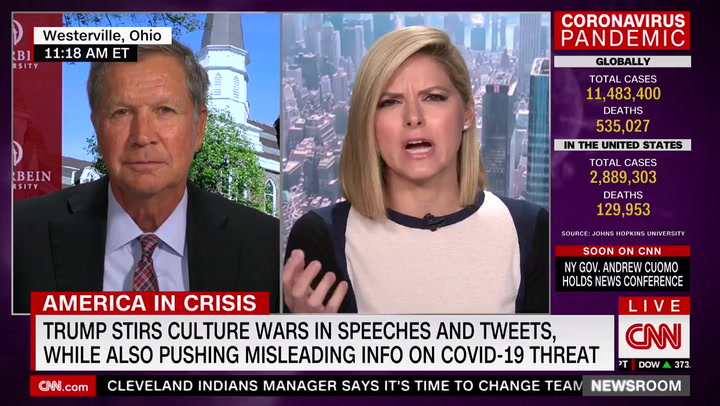 Kasich: Trump Has Damaged GOP Brand --'It's a Party Meltdown Right Now'