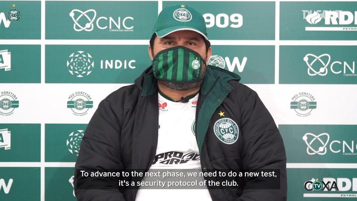 Eduardo Barroca explains Coritiba's plans ahead of football's return