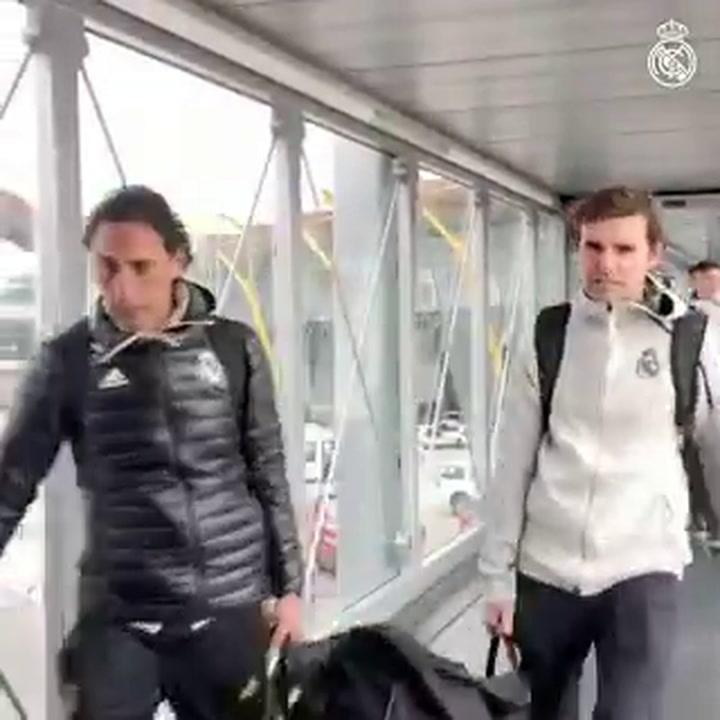 El Real Madrid, camino de Barcelona para disputar el Clásico