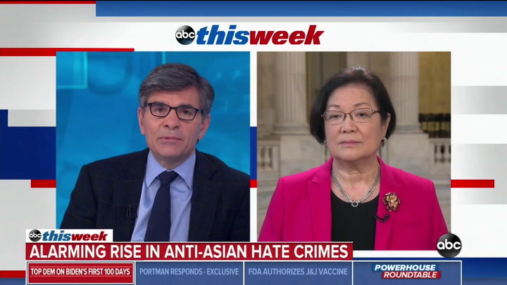 Hirono: Trump's Rhetoric Responsible For Deadly Rise in Anti Asian Hate Crimes