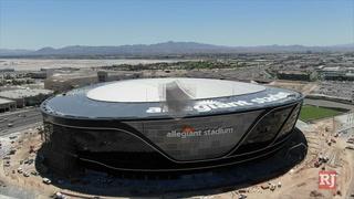 Allegiant Stadium still on track to finish on time – Video