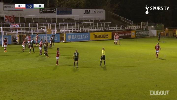 Siri Worm's brilliant free-kick for Spurs Women at Bristol City