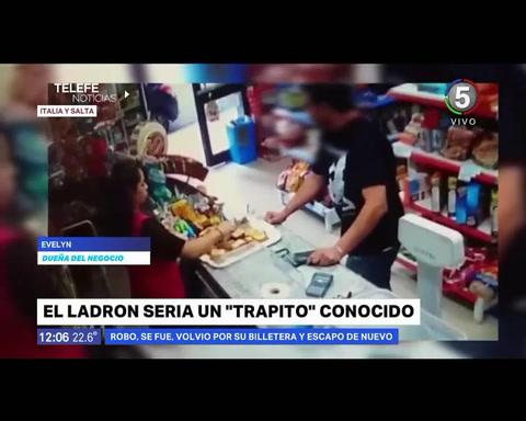 Un trapito fue filmado cuando asaltaba un negocio y cayó preso