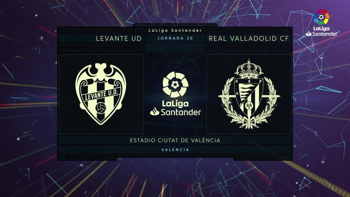LaLiga (J20): Resumen y goles del Levante 2-2 Valladolid