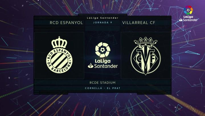 LaLiga (J9): Resumen y gol del Espanyol 0-1 Villarreal
