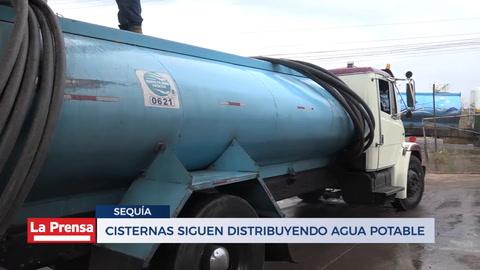 Cisternas siguen distribuyendo agua potable