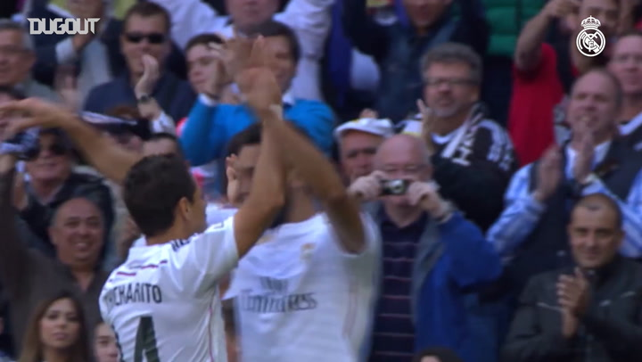 Real Madrid's Goals against Eibar at the Santiago Bernabéu