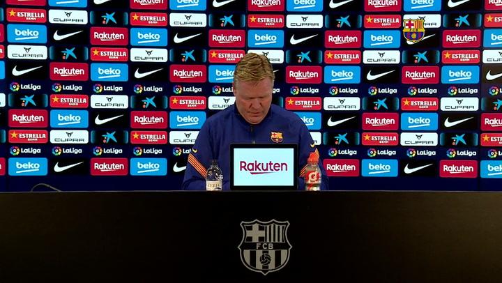 La rueda de prensa íntegra de Ronald Koeman antes de jugar en Huesca
