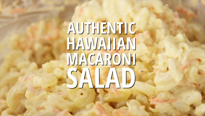 Oh No Hawaiian Barbecue Macaroni Salad Recipe