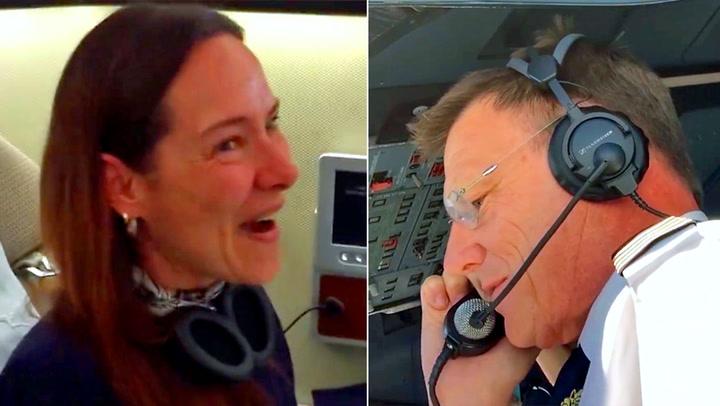 Flypassasjer tatt på senga av kapteinens melding