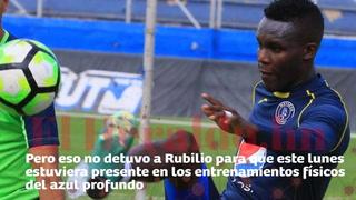 Rubilio Castillo vuelve entrenar con Motagua tras operación en el pómulo