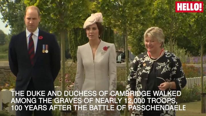 The Duke And Duchess Of Cambridge Visit The Battle Of Passchendaele Graves