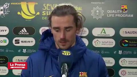 Griezmann tras perder la Supercopa de España