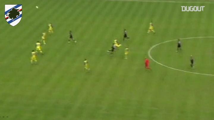 Golaço do meio de campo de Fabio Quagliarella pela Sampdoria