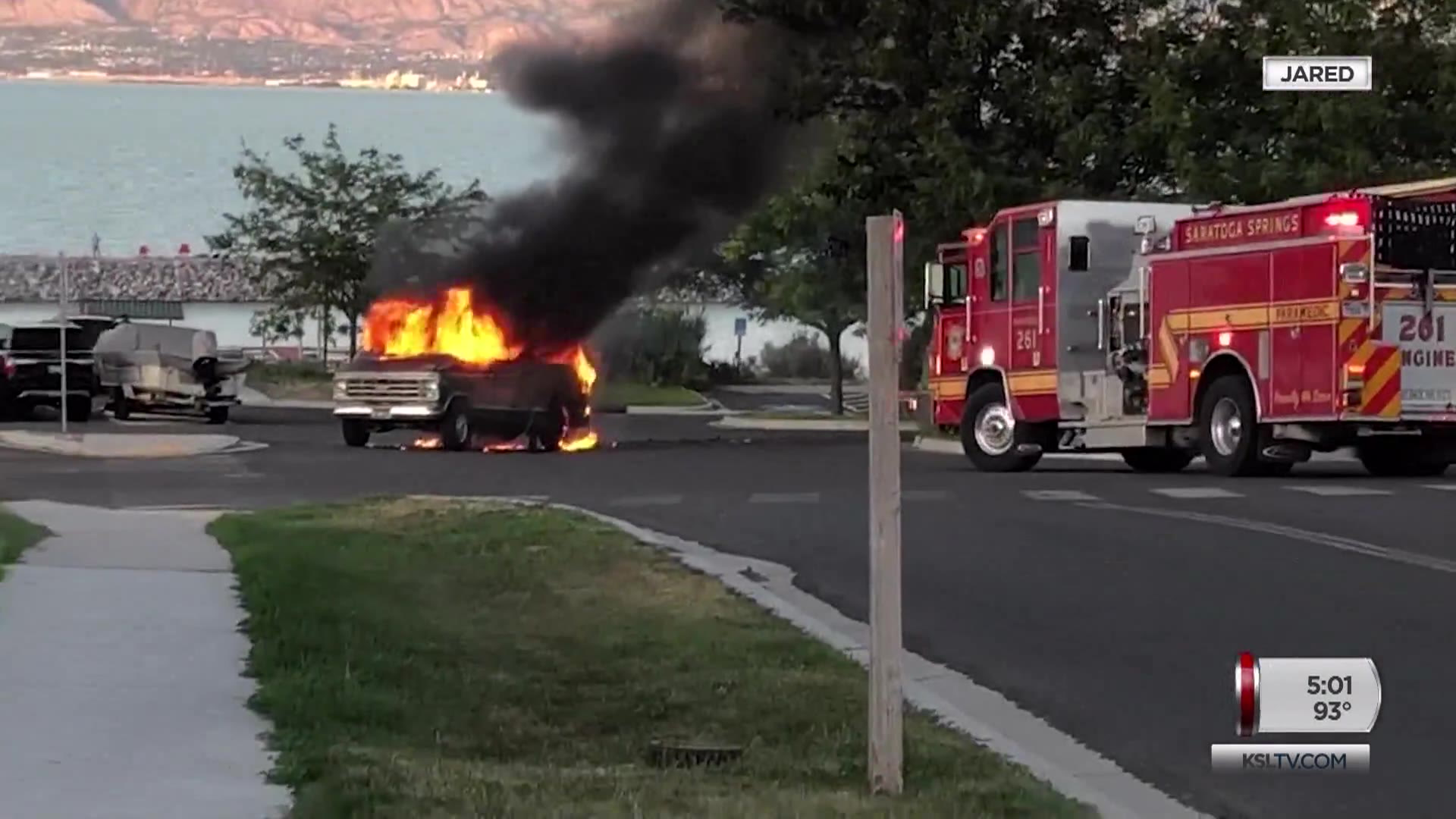 4-year-old, Parents Seriously Burned in Saratoga Springs Van Fire