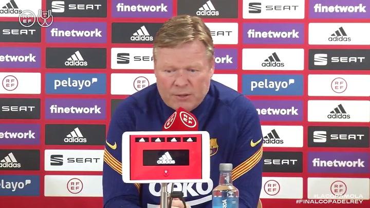 Rueda de prensa completa de Koeman previa a la final de Copa del Rey