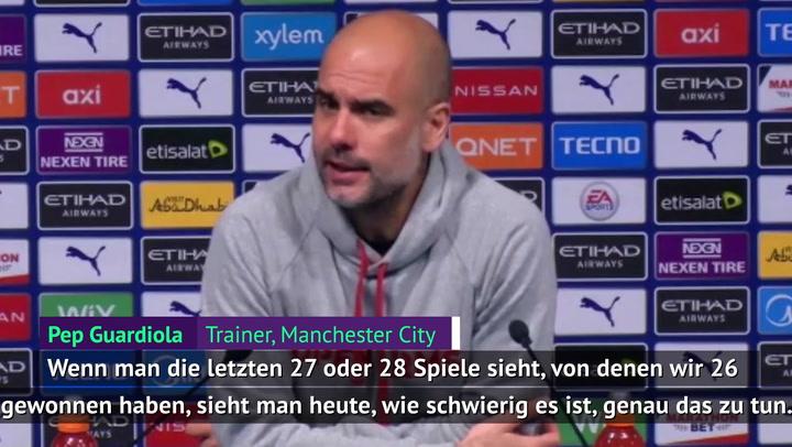 """Guardiola: """"Bereue meine Startelf kein bisschen"""""""