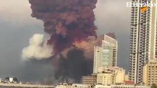 La potente explosión en Beirut vista desde dos escalofriantes ángulos