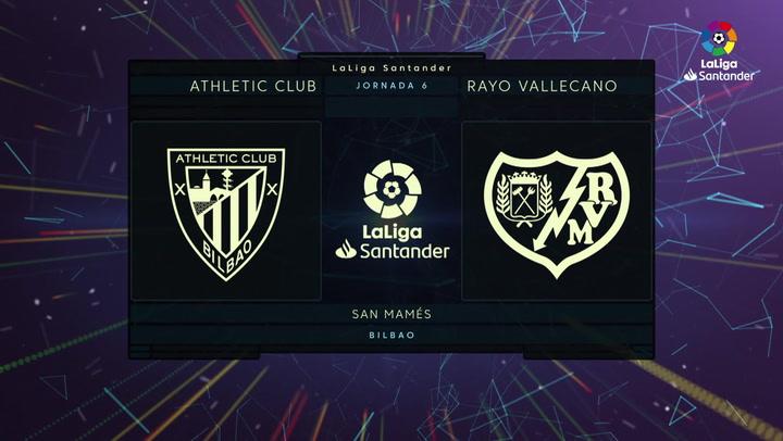 LaLIga (J6): Resumeny goles del Athletic 1-2 Rayo