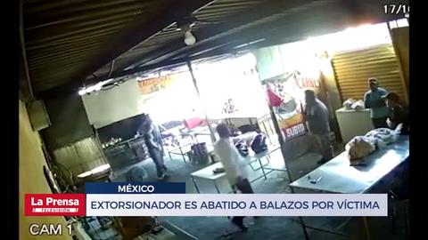 Extorsionador es abatido a balazos por víctima en una pollera