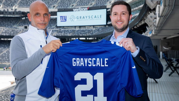 NY Giants Ink Sponsorship Deal With Grayscale in NFL First