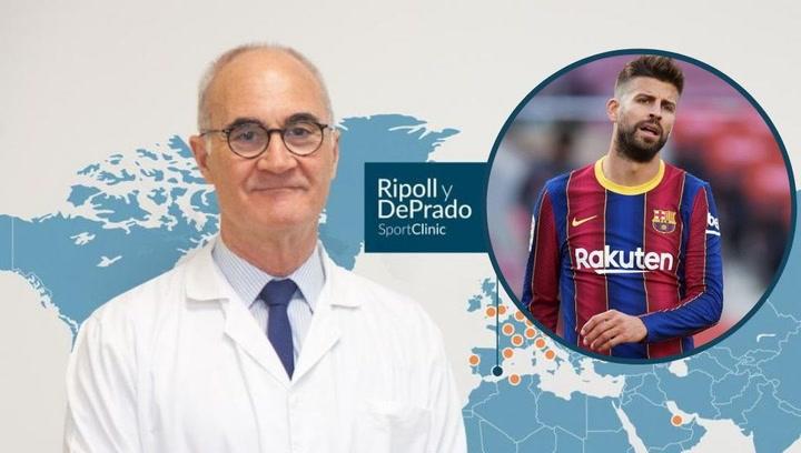 """Dr. Ripoll: """"Piqué sufre un episodio de inestabilidad de la rodilla"""