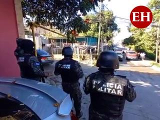 Realizan allanamientos y capturas en la capital de Honduras