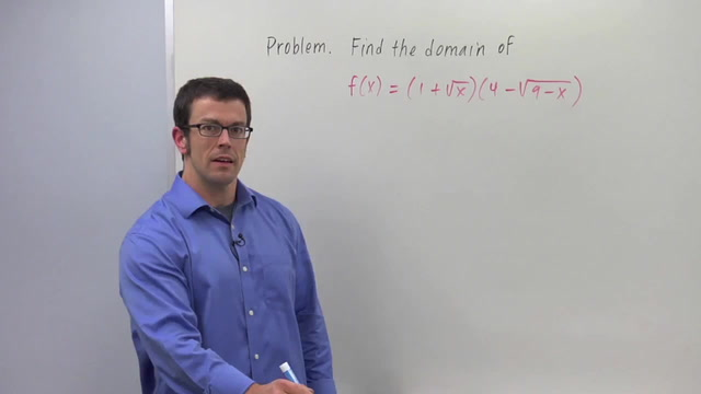 Finding the Domain of a Function - Problem 1