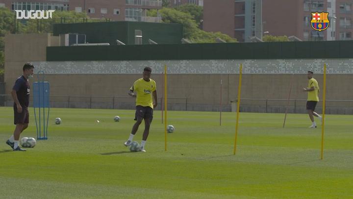 Barça's training session at the Ciutat Esportiva