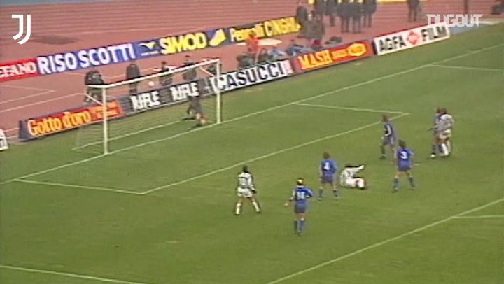 La increíble chilena de Salvatore Schillaci ante el Hellas Verona