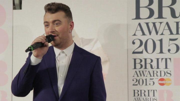 Sam Smith On Kim Kardashian's BRIT Awards Dress