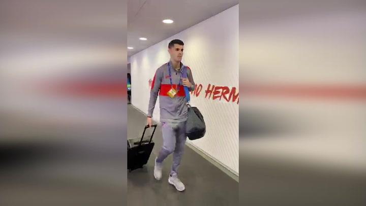 El Atleti llega al Wanda Metropolitano