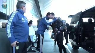 Messi fue el centro de atención este lunes en el primer entrenamiento