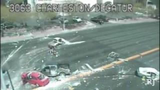 Traffic cam video of crash scene at Charleston and Decatur
