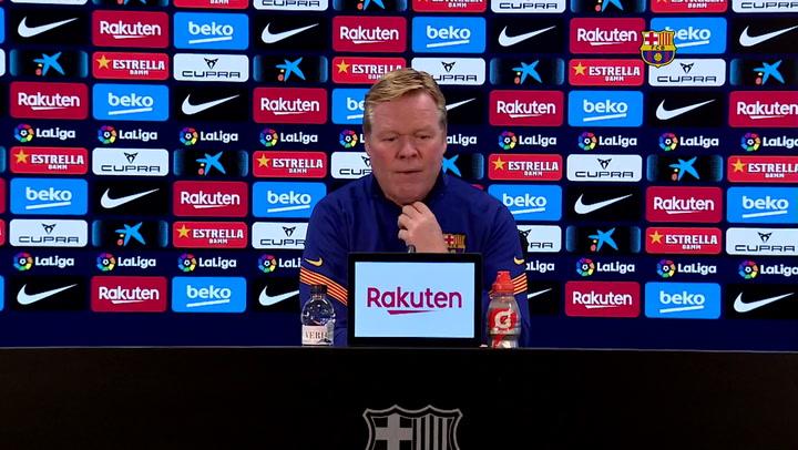 La rueda de prensa de Ronald Koeman previa al partido del Barça contra el Valladolid
