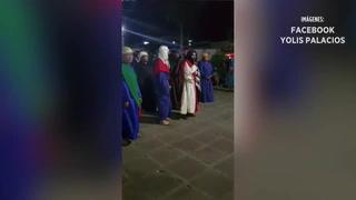 Hombre interpreta a Jesús pasado de copas en México