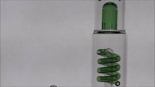 Coil Perc Beaker Bong with Removable Downstem